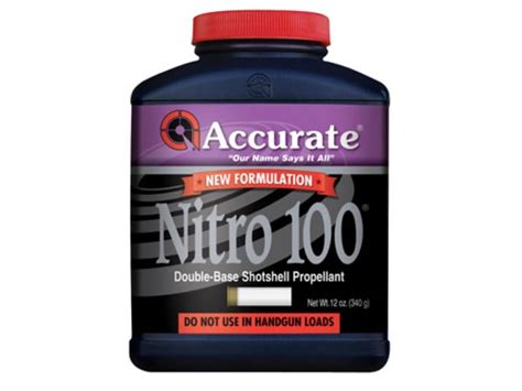Accurate Nitro 100 Smokeless Gun Powder 4 Lb.