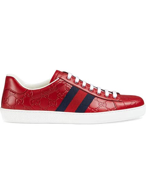Ace Gucci Signature Sneaker Red