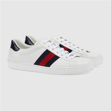 Ace Leather Sneaker Gucci On Foot