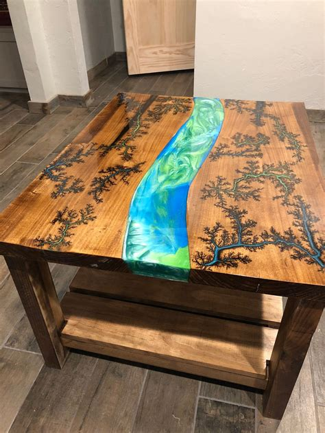 Acrylic Wood Coffee Table DIY
