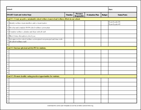 Action-Plan-Table-Template
