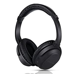 Active Noise Canceling Wireless Headphones, Lightweight Headphones with Built-in Microphone and Volume Control Bluetooth Headset