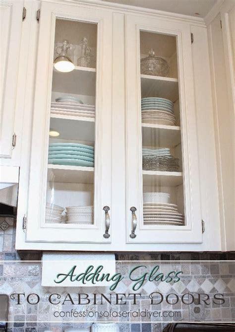 Adding-Glass-Cabinet-Doors-Diy