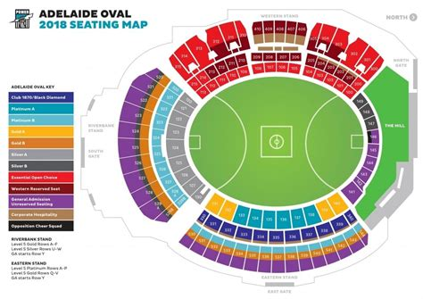 Adelaide Oval Seating Plan Western Stand