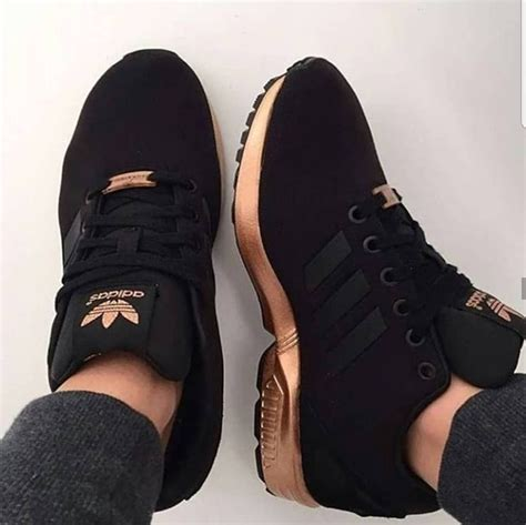 Adidas Black And Gold Sneakers Zx
