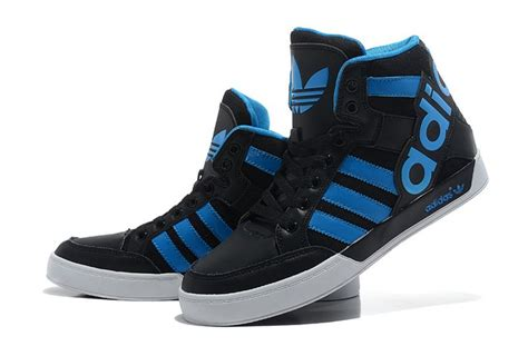 Adidas Black Sneakers Witj High Tongue