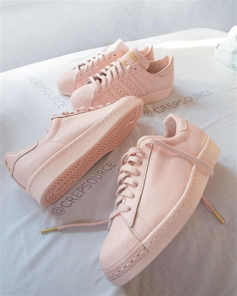 Adidas Blush Pink No Stripes Sneakers