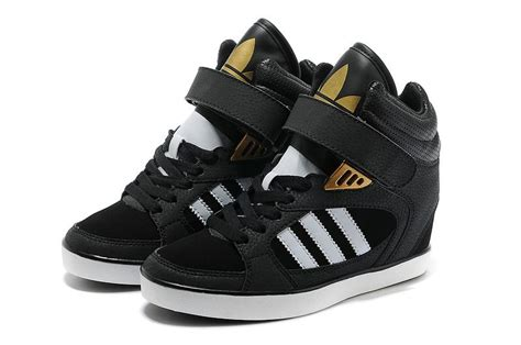 Adidas Clover Sky Hi Wedge Sneakers Black White