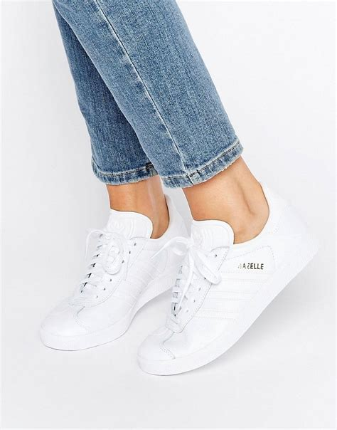 Adidas Ladies White Leather Sneaker