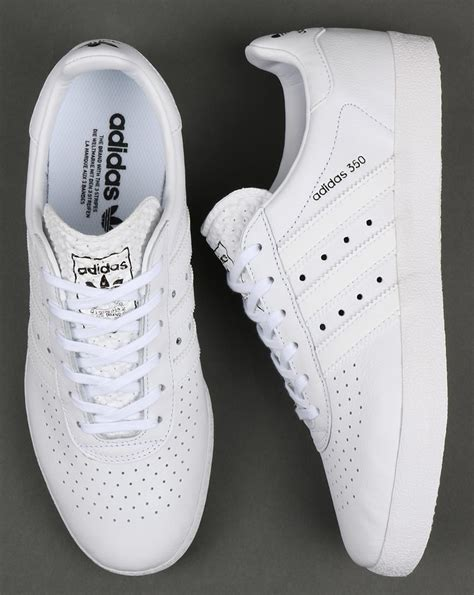 Adidas Mens Leather Sneakers White