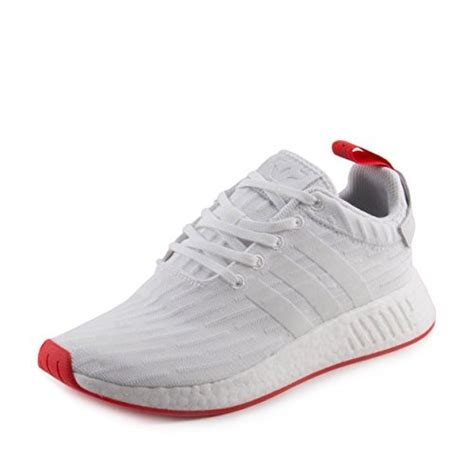 Adidas NMD_R2 Primeknit Men's Shoe White/Core Red ba7253 (13 D(M) US)