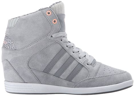 Adidas Neo Super High-top Wedge Sneaker Womens Grey