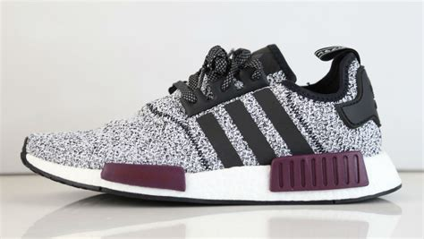 Adidas Nmd Sneakers Nmd R1 Colorway-black White And Burgundy