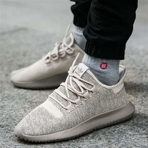 Adidas Originals Beige Tubular Shadow Leather Sneakers