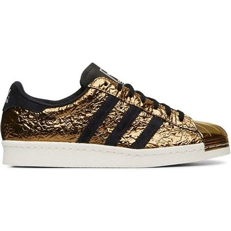 Adidas Originals Black And Gold Superstar Low Top Sneaker