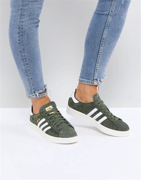 Adidas Originals Campus Sneakers In Khaki