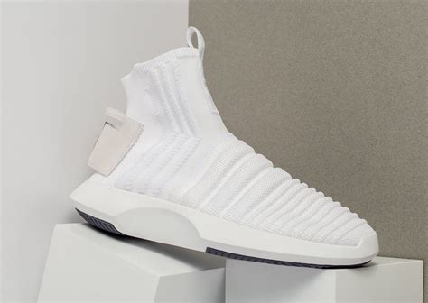 Adidas Originals Crazy 1 Adv Sock Primeknit Sneakers In White