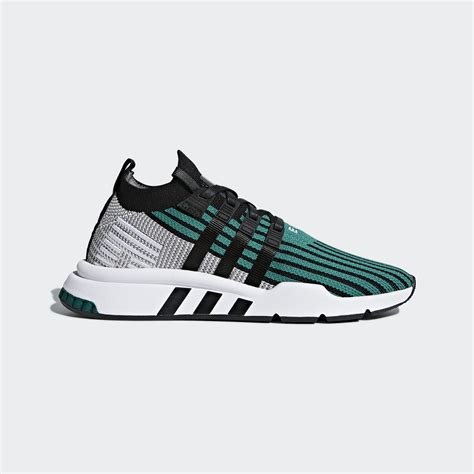 Adidas Originals Eqt Support Mid Adv Primeknit Sneakers In Green