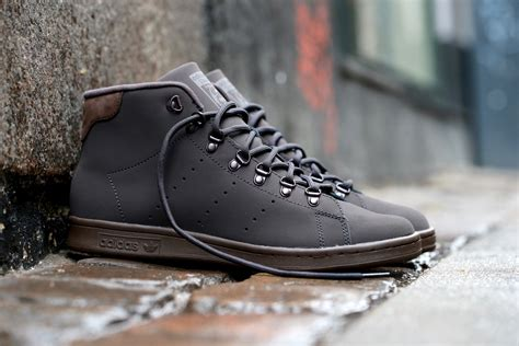 Adidas Originals Mens Stan Smith Winter Leather Sneakers