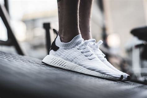 Adidas Originals Nmd R2 Primeknit Sneakers In White By3015