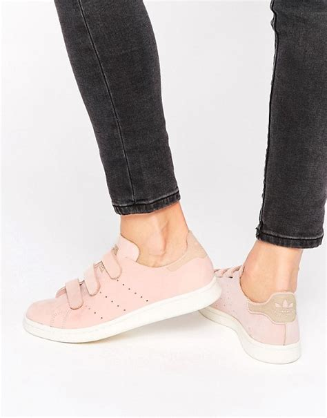 Adidas Originals Nubuck Leather Stan Smith Sneakers With Strap