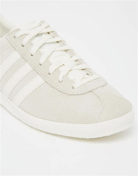 Adidas Originals Off White Suede Gazelle Og Sneakers