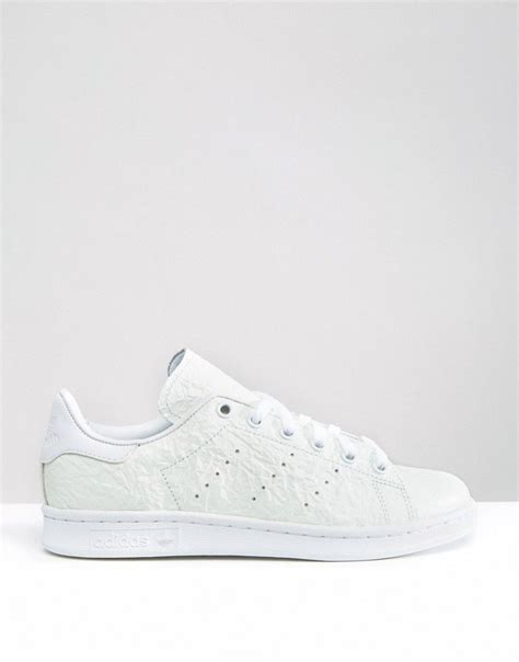 Adidas Originals Off White Textured Leather Sneakers
