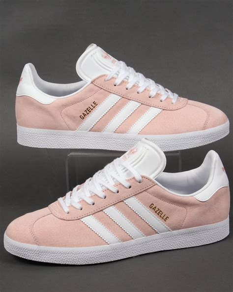 Adidas Originals Pastel Grey And Pink Gazelle Sneakers