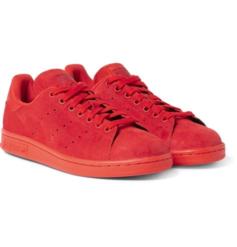 Adidas Originals Stan Smith Casual Suede Red Sneakers