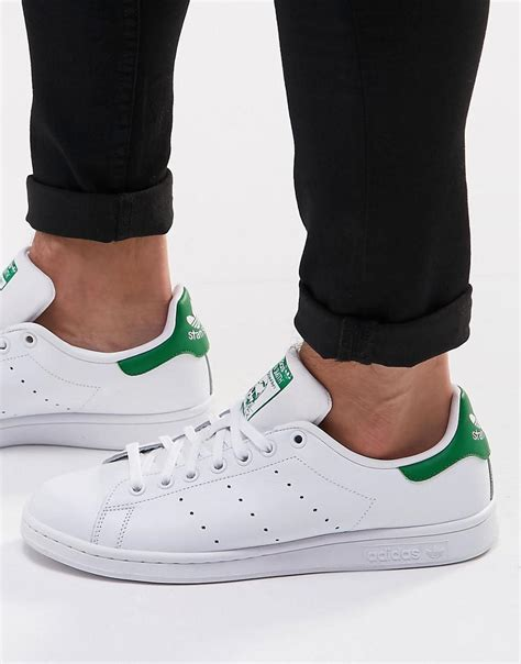 Adidas Originals Stan Smith Leather Sneakers In White