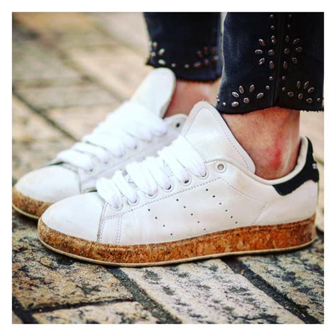 Adidas Originals Stan Smith Lux With Cork Sole Sneakers