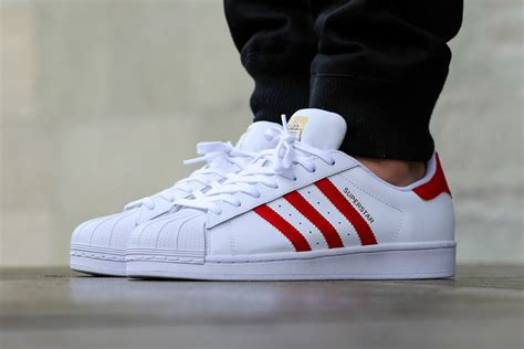 Adidas Originals Superstar Foundation Sneakers Basse White Scarlet