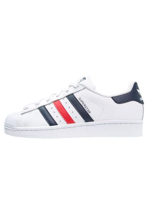 Adidas Originals Superstar Foundation Sneakers Laag White Scarlet