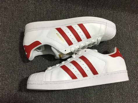 Adidas Originals Superstar Sneakers Laag Red White