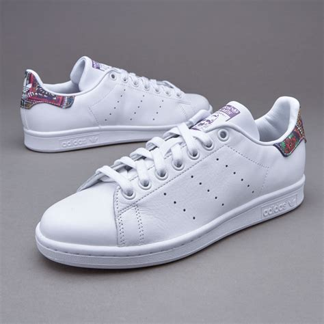 Adidas Originals White And Gray Stan Smith Sneaker Womens