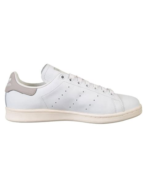 Adidas Originals White And Grey Stan Smith Sneakers