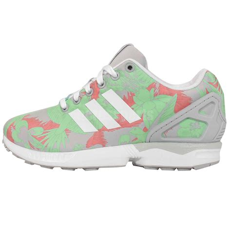 Adidas Originals Zx 500 Gray Floral Print Sneakers
