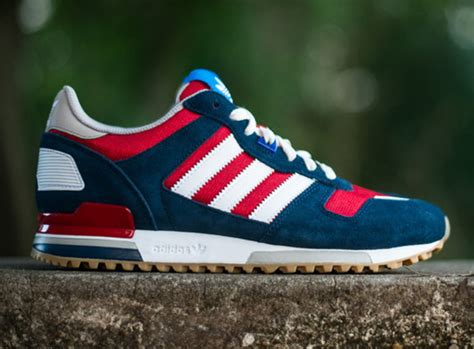 Adidas Originals Zx 700 Sneaker Collegiate Navy Red White