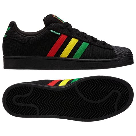 Adidas Rasta Originals Superstar Ii Hemp Mens Black Sneakers