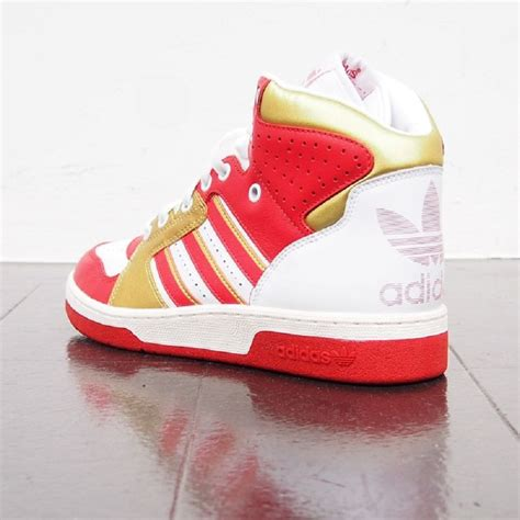 Adidas Red And Gold Sneakers