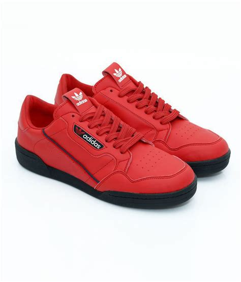 Adidas Red Sneakers Monochrome