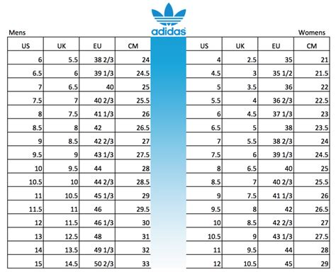 Adidas Sneakers Size Chart Women& 39