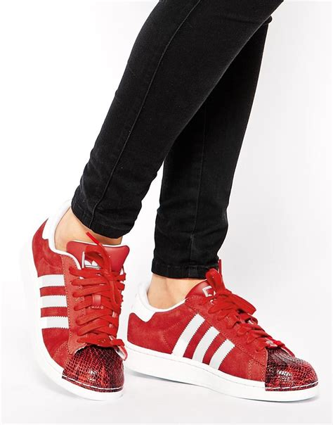 Adidas Superstar Ii Toe Cap Red Sneakers