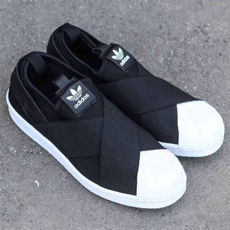 Adidas Superstar Slip On Womens Sneakers Black