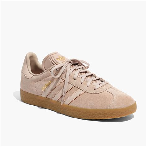 Adidas Unisex Gazelle Lace Up Sneakers In Tan