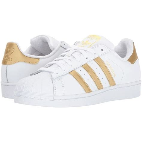 Adidas White And Gold Originals Sneakers