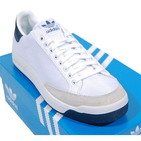 Adidas White Blue Rod Laver Sneakers