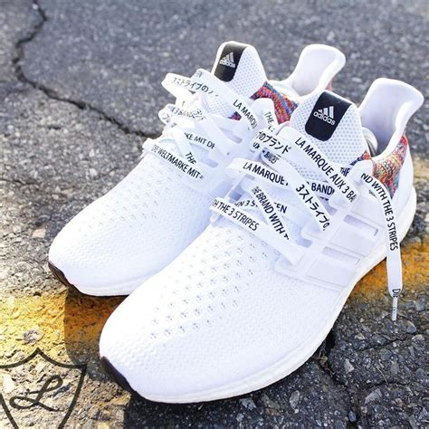 Adidas White Lace Black Cute Sneakers Cool Pretty
