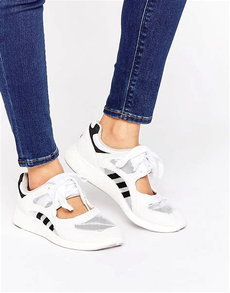Adidas White Lace Black Sneakers