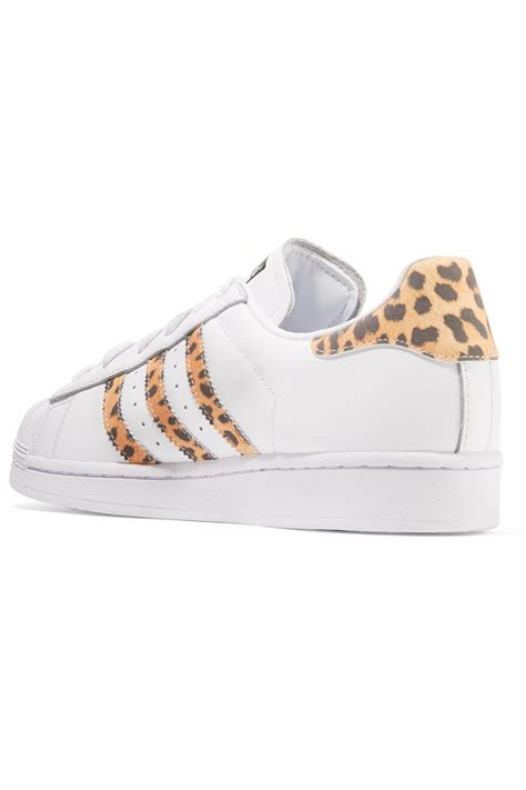 Adidas White Leopard Print Sneakers